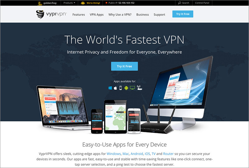 Best VPN for China: VyprVPN